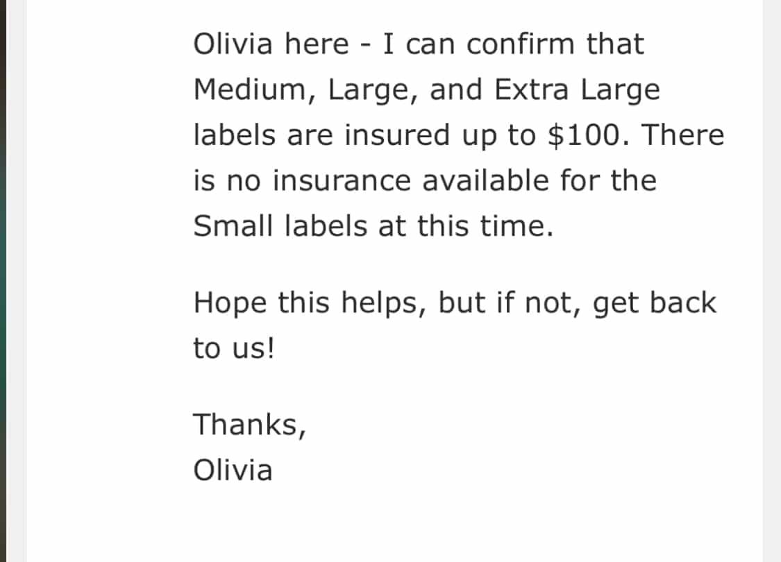 usps depop shipping insurance confirmation