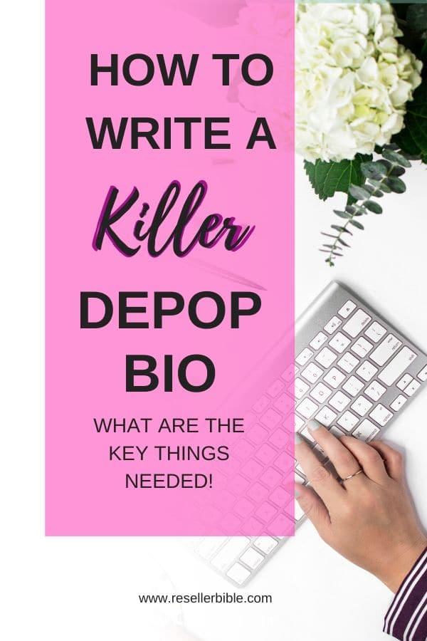 write a depop bio