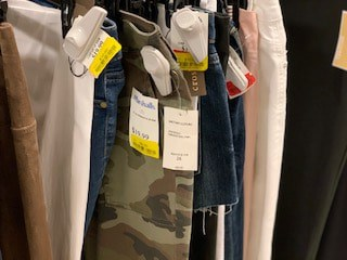 Marshall's yellow tag clearance