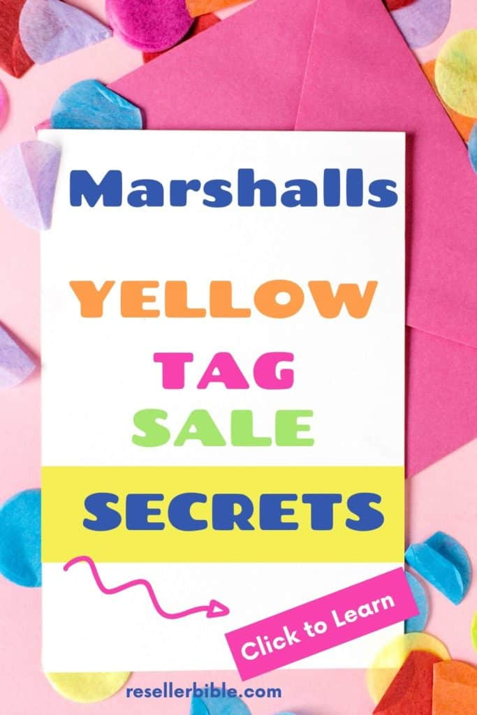 MARSHALLS YELLOW TAG SALE